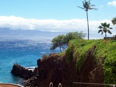 Looking out from on top of the Sheraton, which rests on Black Rock, Kaanapali Beach, Maui.  I love that place!!