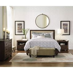 Home Decorators Collection Cambridge Rustic Brown Queen Bed