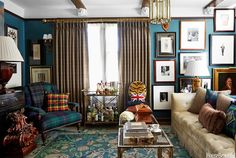 Scot Meacham Wood,  Apartment with Dark Colors and Tartan