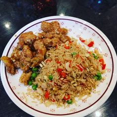 Lemon and Sesame Chicken with Special Fried Rice
