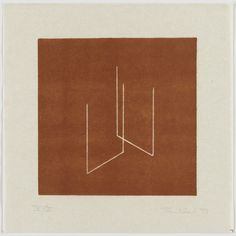 Fred Sandback select untitled prints from 1976 - 1979 (via Lawrence Markey) Large Prints, Fine Art Prints, Richard Tuttle, Graphic Prints, Graphic Design, Silk Screen Printing, Wood Engraving, 3d Drawings, Zoom Photo