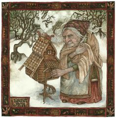 "Baba Yaga by thehermitage on Etsy, £6.00  |""The old woman had long ago made herself a home that would leave as small a footprint upon the earth as possible that she might live in as sweet harmony with the woods as the birds.""