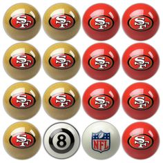 San Francisco 49ers NFL 8-Ball Billiard Set