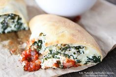 Kale, Mushroom, and Ricotta Calzone Recipe-an easy and tasty meatless meal!