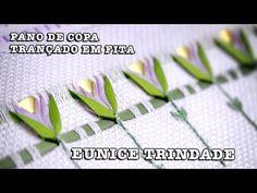30/07/2014 - Pano de copa com trançado em fita (Eunice Trindade) - YouTube