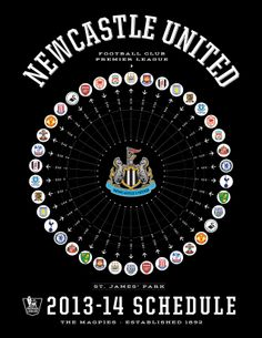 Newcastle United 2013-14 Premier League Schedule
