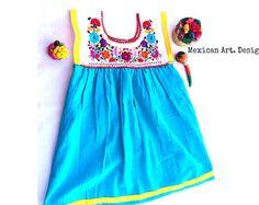Esmeralda Mexican Embroidered Baby Dress por MexicanartDesigns Baby Dresses, Summer Dresses, Mexican Babies, Mexican Dresses, Embroidered Clothes, Kids Clothing, 2nd Birthday, Ideas Para, Little Girls