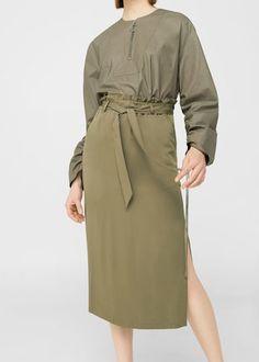 Side slit hem skirt -  Woman | MANGO United Kingdom