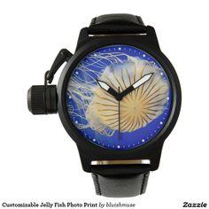 Customizable Jelly Fish Photo Print Watches