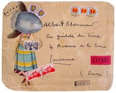 Enveloppe de Jacques PRÉVERT (Coll P-S Proust)