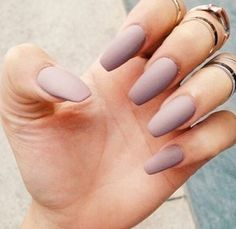 Pastel purple matte nails :D