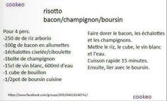 risotto bacon champignon boursin cookeo