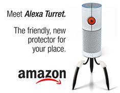 Amazon Aperture Alexa portal turret.
