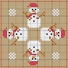 snowman cross stitch