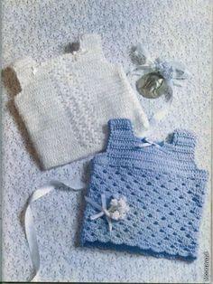 beside crochet: بلايز كروشية للمولود الجديد
