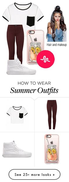 """VidCon Outfit"" by magconxalex on Polyvore featuring J Brand, Vans and Casetify"