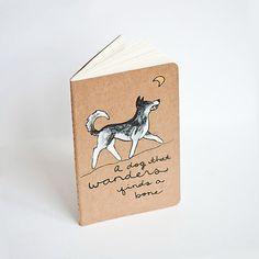 "Hand Painted Moleskine ""le dog"" notebook"