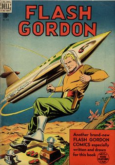 Dell Four Color Comics - Flash Gordon 204, December 1948, cover by Paul Norris