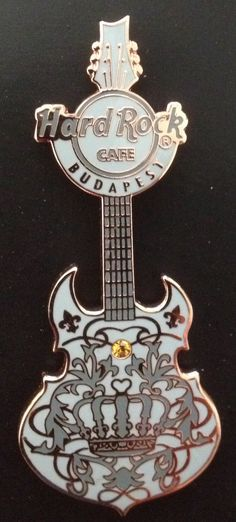 Hard Rock Cafe Budapest Couture Guitar Pin. Guitar Pins, Hard Rock, Budapest, Memories, Couture, Style, Haute Couture, Souvenirs, High Fashion