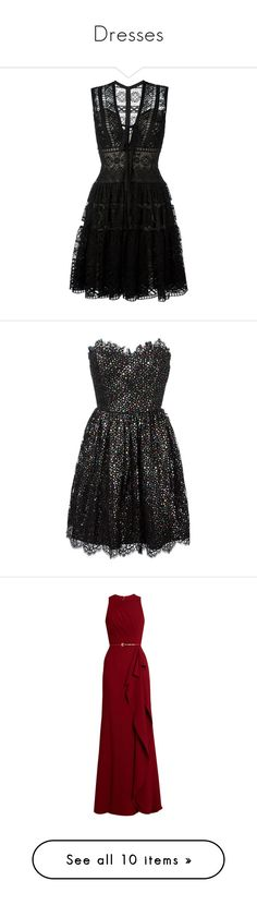 """""""Dresses"""" by codruta97 ❤ liked on Polyvore featuring dresses, vestidos, short dresses, black, embroidery dresses, embroidered mini dress, short silk dress, short flared dresses, flare mini dress and short lace cocktail dress"""