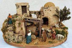 Imagen relacionada Christmas Nativity, Christmas Home, Handmade Christmas, Ceramic Houses, Glitter Houses, Model Building, Ideas Para, Portal, Christmas Decorations