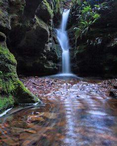 Beautiful secret falls in the foothills of Mt Wellington. Image sent in by Erik Rowan on IG: https://instagram.com/p/BGTy8j1LwYE/