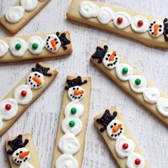 Snowman decorated #cookie sticks