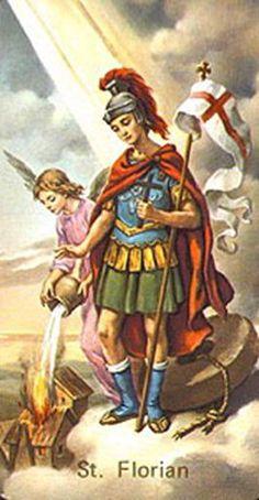 4 Junio. San Florrián de Lorch, patrón de Polonia , de los limpiadores de chimeneas y los bomberos.