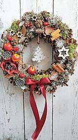 Dekorácie - Vianočný veniec - 7346445_