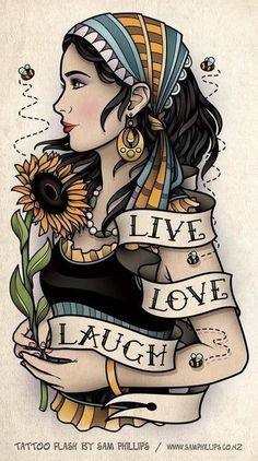 New Ideas For Tattoo Old School Traditionnel Flower Hair Tattoos, Flower Tattoos, New Tattoos, Body Art Tattoos, Cool Tattoos, Tattoo Art, Tatoos, Arabic Tattoos, Dragon Tattoos
