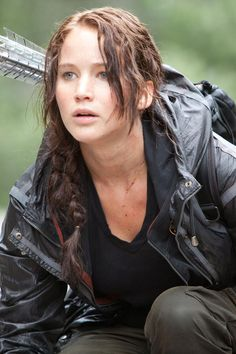 Katniss Everdeen, the main character from The Hunger Games