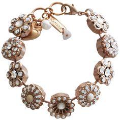 Mariana Rose Gold Plated Statement Flowers Swarovski Crystal Bracelet, Forever. Available at www.regencies.com