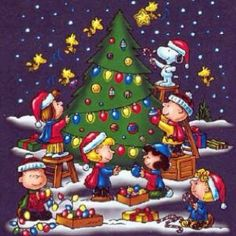 Peanuts Christmas! Beautiful #christmas screen savers at www.fabuloussavers.com/christmasscreensavers8.shtml Thank you for viewing ♡