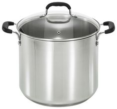 T-Fal - 12-Quart Stock Pot - Stainless-Steel