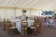 Fully draped marquee showcase as provided by Elite Marquees.