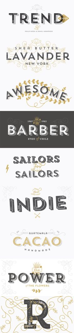 The TREND and BARBER font would be something I would use on my magazine, to create the rustic and vintage effect.