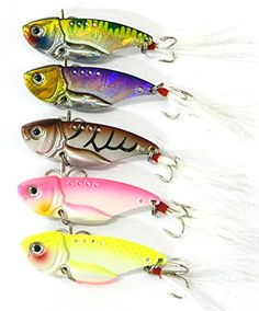 "Hengjia 5 Colors/lot Metal VIB Fishing Lure with Feather Hook Bass Crankbaits Hard Baits 5.5cm/2.17""/11g Hengjia http://www.amazon.com/dp/B00UCUNXES/ref=cm_sw_r_pi_dp_pTegvb022YG5D"