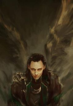 this is my favorite loki fan art of all time. I love the wings and everything almost supernatural-ish and just so beautiful in it's own way. I can't explain but it is
