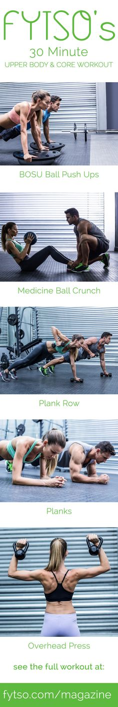 We have concocted this intense 30 minute upper body workout for those who thrive off a burning chest and sore arms.