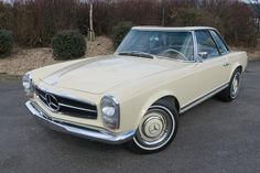1967 Mercedes W113 230SL LHD Automatic  Petrol, Automatic, Light Ivory, 79,000 miles at Woldside Classic and Sports Car www.woldsideclassics.co.uk