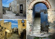 放棄された山の町イタリア サルデーニャ島