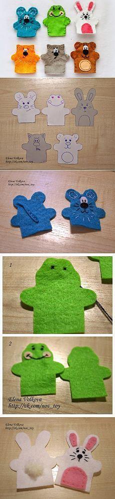 Пальчиковые игрушки из фетра своими руками с выкройками