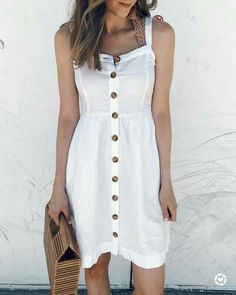 40 Cute Summer Outfits To Look Adorable Everyday Cute Dresses, Casual Dresses, Casual Outfits, Cute Outfits, Summer Outfits Women, Summer Dresses, Classy Casual, Casual Summer, Instagram Outfits