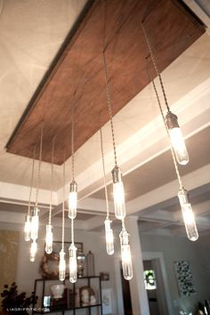 Amazing Tutorial! How to make an industrial Edison Style Chandelier: