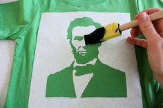 "TUTORIAL: President's Day shirts (""Intermediate"" Freezer Paper Stenciling)"