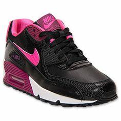 Girls' Grade School Nike Air Max 90 Running Shoes   FinishLine.com   Black
