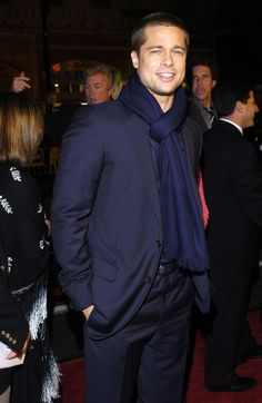 Brad Pitt  was all bundled up for the  Along Came Polly  premiere in LA back in January 2004.