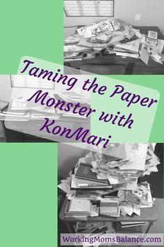 If paper clutter has gotten out of control in your house, take heart. It is possible to tackle that monster and get the papers in your house under control once and for all. Marie Kondo describes how to tackle the paper chaos in her book the Life Changing Magic of Tidying Up. This post takes a peek at how to use the konmari method to get your papers under control.