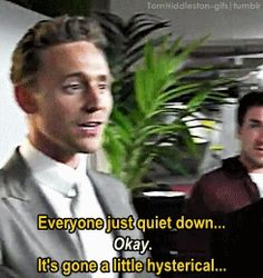 "the-haven-of-fiction: "" tomhiddleston-gifs: "" "" [x] "" When Tom Hiddleston wants to get some respect, he does get it. He gets it by telling it gently, patiently and firmly… with a smile. "" ""<---and it works, give him credit. Is Tom Hiddleston Married, Tom Hiddleston Loki, Thomas Sharpe, Smile Gif, Thomas Doherty, British Boys, Thomas William Hiddleston, Loki Thor, Man Alive"