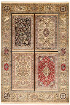 Kashmir pure silk carpet 187x277